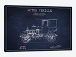 Edward B. Gallaher Motor Vehicle Patent Sketch (Navy Blue)