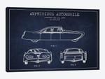 Amphibious Automobile Patent Sketch (Navy Blue) II