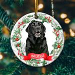 Black Labrador Circle Ornament