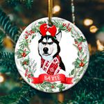 Husky Circle Ornament