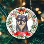 Chihuahua Circle Ornament