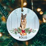 German Shepherd Golden Circle Ornament
