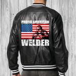 Welder Black Bomber Leather Jacket