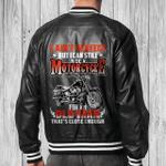 Old Man Motocycle Black Bomber Leather Jacket