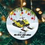 Personalized Snowmobile1 Ornament