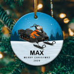 Personalized Snowmobile3 Ornament