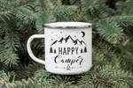 Personalised Camping Enamel Mug - Happy Camper