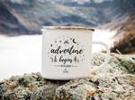 Wedding Mug The Adventure Begins Mountain Wedding Camping Mug Enamel Mug Personalised Custom Wedding Gift Anniversary Gift