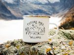 Wedding Mug Future Mrs Mountain Wedding Engagement Gift Just Engaged Camping Mug Enamel Mug Personalised Custom Wedding Gift