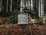 Halloween Coffee Mug Stay Wicked Witches Mug Personalised Fall Mug Enamel Mug Halloween Gift Camping Mug || 2 Styles