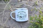 Happy Camper Camping Mug Enamel Mug Van Life Gifts For Campers RV Accessories Campervan Camping Family Gift RV Mug Gift