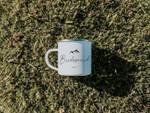 Minimal Wedding Mug Bridesmaid Mountain Wedding Camping Mug Enamel Mug Personalised Custom Bridesmaid Accessories Wedding Gift
