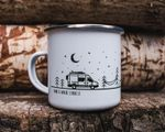 Enamel Camping Mug Home Is Where I Park It  Van Life Gifts For Campers RV Accessories Campervan Decor Camp Mug