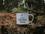 Personalised Witches Brew Mug Halloween Gift Mug Enamel Mug Witches Mug Coffee Cup Camping Mug Custom Fall Gift
