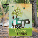 Camping Garden Flag - Welcome Spring - 7 RV Styles