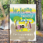 Personalized RV Camping Beach Flag Welcome To Our Paradise