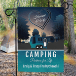 Personalized RV Camping Flag Husband and Wife Camping Partners For Life