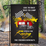 Personalized RV Camping Flag Live to Race Race to Camp