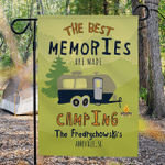Personalized RV Camping Flag The Best Memories Are Made Camping