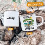 I Googled My Symptoms, I Love Camping Enamel Mug