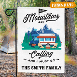 The Mountains Are Calling - Camping Flag