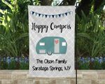 Happy Campers Campsite Flag Personalized, Family Campsite Flag