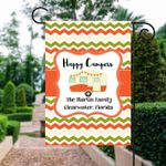 Happy Camper Campsite Flag Personalized, Welcome Campsite Flag