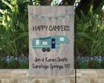 Personalized Happy Campers Flag, Family Campsite Flag