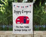 Patriotic Happy Campers Campsite Flag