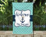 Personalized Anchor Yard Flag, Nautical House Sign