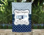 Fifth Wheel Camsite Flag, Happy Campers Flag Personalized