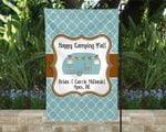 Happy Camping Y'all Flag, Personalized Campsite Flag