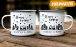 Personalize Happy Campers Mug, RV Camping, RV Gift