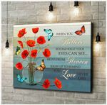Canvas Butterfly + Poppies When You Believe