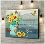 Canvas Butterfly + Sunflower When You Believe