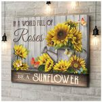 Canvas Butterfly Be A Sunflower