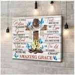 Canvas Butterfly Amazing Grace