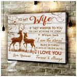 CANVAS Buck&Doe To My Wife