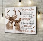 Canvas Buck&Doe Happily Ever After