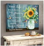 Canvas Hummingbird + Sunflower Your Life