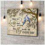 Canvas Blue Jay Bird Those We Love