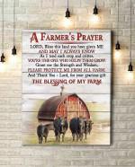 Canvas Angus Cow A Farmer's Prayer