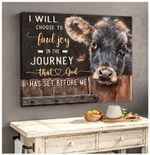 Canvas Angus Cow I Will Choose