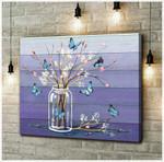 Canvas Butterfly + Flowers (Purple)