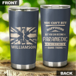 Personalized Paramedic UK Flag Tumbler