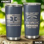 Personalized Paramedic US Flag Tumbler