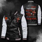 Bomber Leather Jacket - NTAT0008