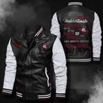 Bomber Leather Jacket - NTAT0001