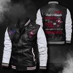 Bomber Leather Jacket - NTAT0004