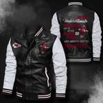 Bomber Leather Jacket - NTAT00016